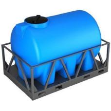 Емкость для воды Н 3000 л. в обрешетке